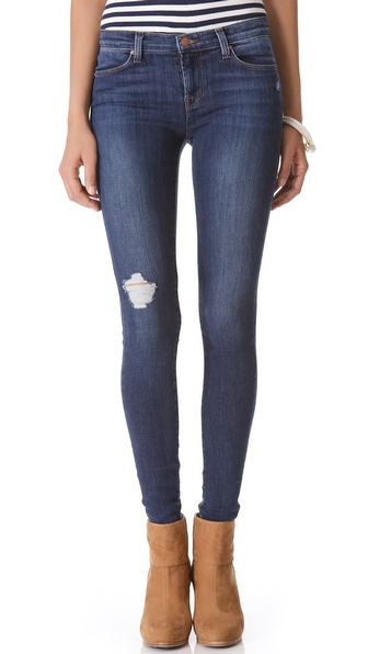J brand 620 Super Skinny Jeans in Blue | Lyst
