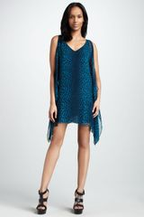 Jay Godfrey Printed Cascade Dress - Lyst