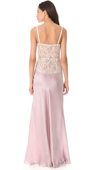 Lyst - Jenny Packham Lace Silk Nightgown in White