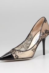Jimmy Choo Alias Lace Pointed-toe Pump Black - Lyst