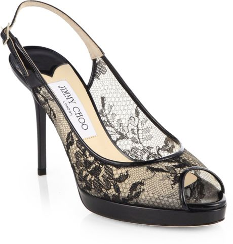 004904387ab2 460 x 481 lyst.com. Jimmy Choo Nova Lace  amp  Patent Leather ...