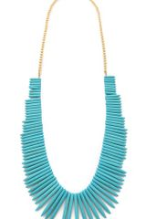 Kenneth Jay Lane Turquoise Stick Necklace - Lyst