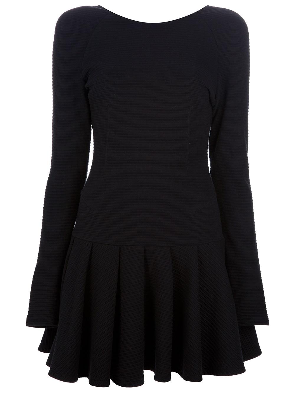 Kenzo Pleated Skater Dress In Black Lyst