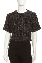 Lafayette 148 New York Cambria Tweed Dolman Crop Jacket - Lyst