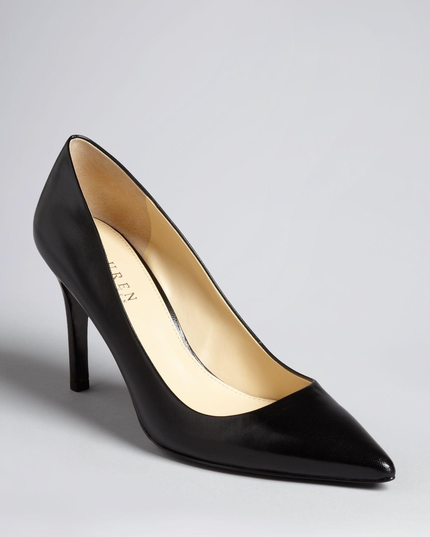 e4a0fc4b1ff Lyst - Lauren by Ralph Lauren Pointed Toe Pumps Adena High Heel in Black
