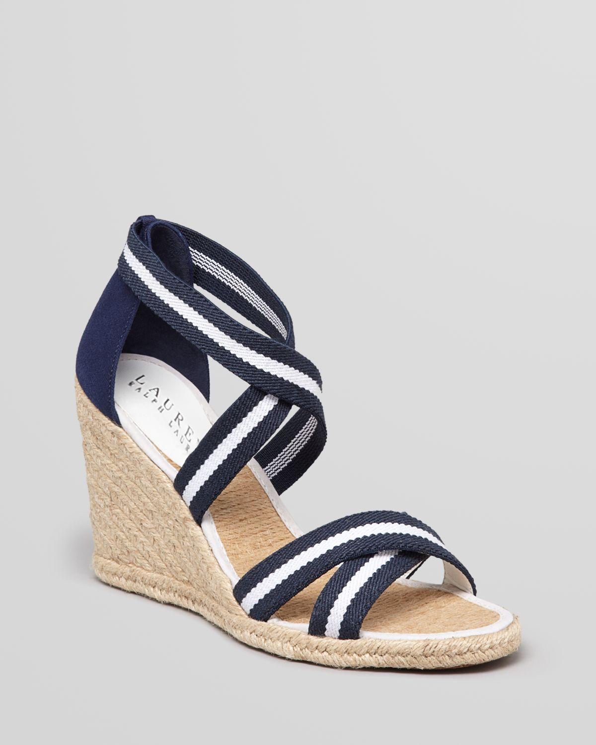 Lauren By Ralph Lauren Espadrille Platform Wedge Sandals