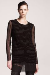 Maison Martin Margiela Tonal Tiger embroidered Tunic - Lyst