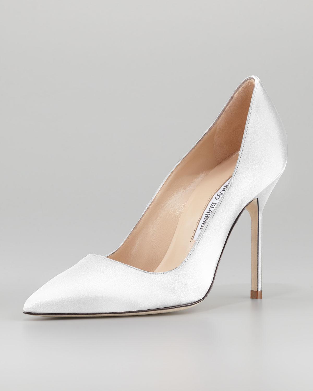 manolo blahnik shoes white inexpensive