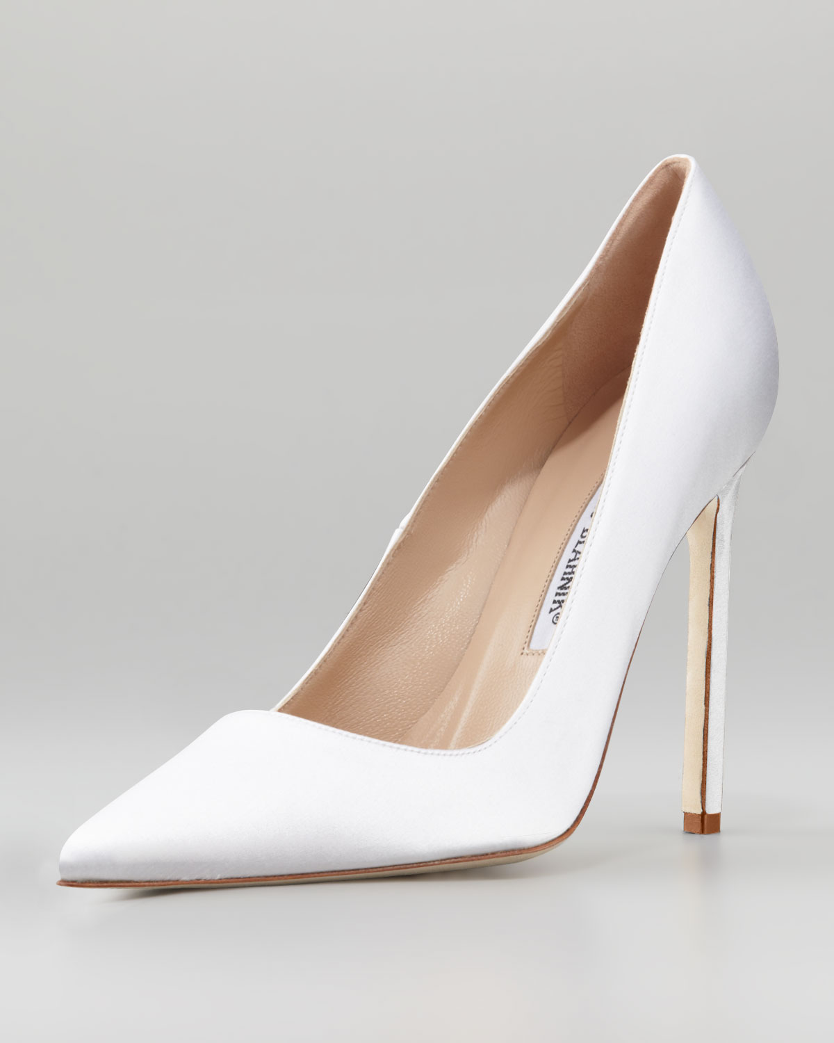 manolo blahnik bb satin pumps
