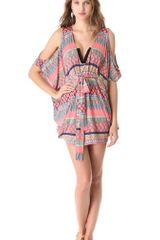 Mara Hoffman Frida Open Shoulder Poncho Cover Up - Lyst