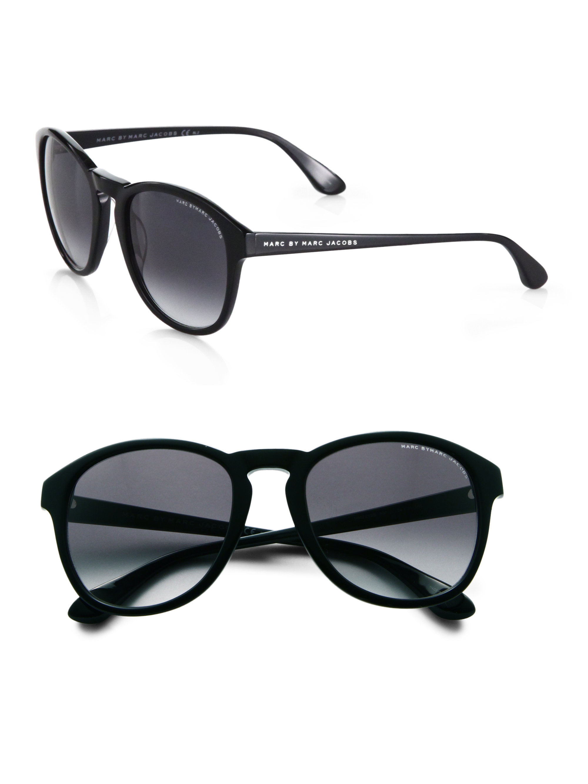 Marc By Marc Jacobs Round Frame Glasses : Marc By Marc Jacobs Round Sunglasses in Black Lyst