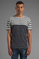 Marc By Marc Jacobs Bailey Stripe Tee in Charcoal - Lyst