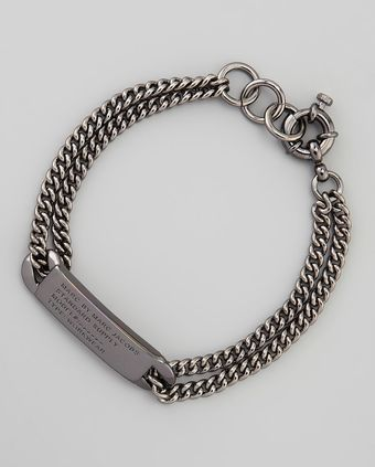 Marc By Marc Jacobs Chain Loop Standard Supply Bracelet Gunmetal - Lyst
