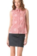 Marc By Marc Jacobs Jamie Dot Sleeveless Top - Lyst