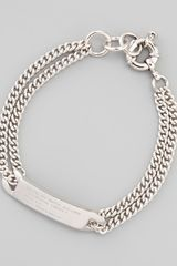 Marc By Marc Jacobs Chain Loop Standard Supply Bracelet  - Lyst