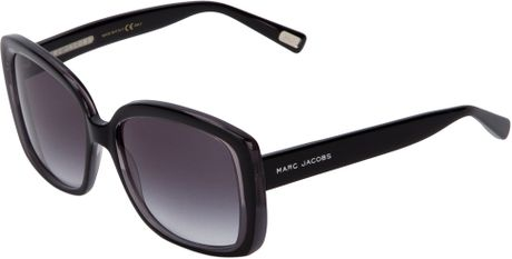Marc Jacobs Big Frame Glasses : Marc Jacobs Round Frame Sunglasses in Black Lyst