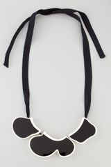 Marni Enamel Bib Ribbon Necklace - Lyst