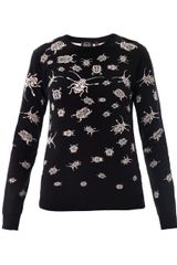 McQ by Alexander McQueen Bug Intarsiaknit Sweater - Lyst