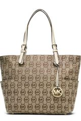Michael by Michael Kors Jet Set Item Eastwest Signature Tote  - Lyst