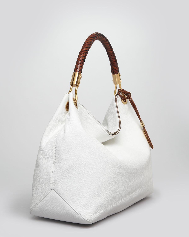 Lyst - Michael Kors Large Shoulder Bag - Skorpios in Brown 18deadf0f203c