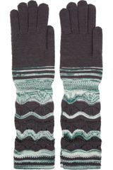 Missoni Crochet Knit Wool Blend Gloves - Lyst
