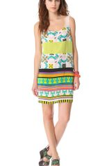 MSGM Tribal Patchwork Tank Dress - Lyst