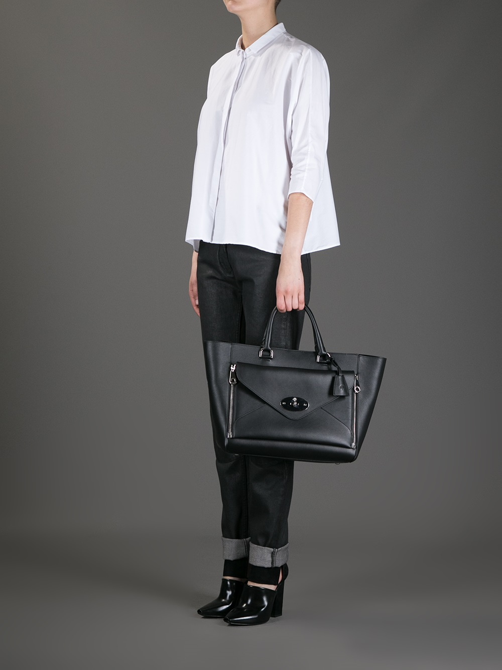8a0a5150b8 ... shop lyst mulberry willow tote bag in black 45865 867d0