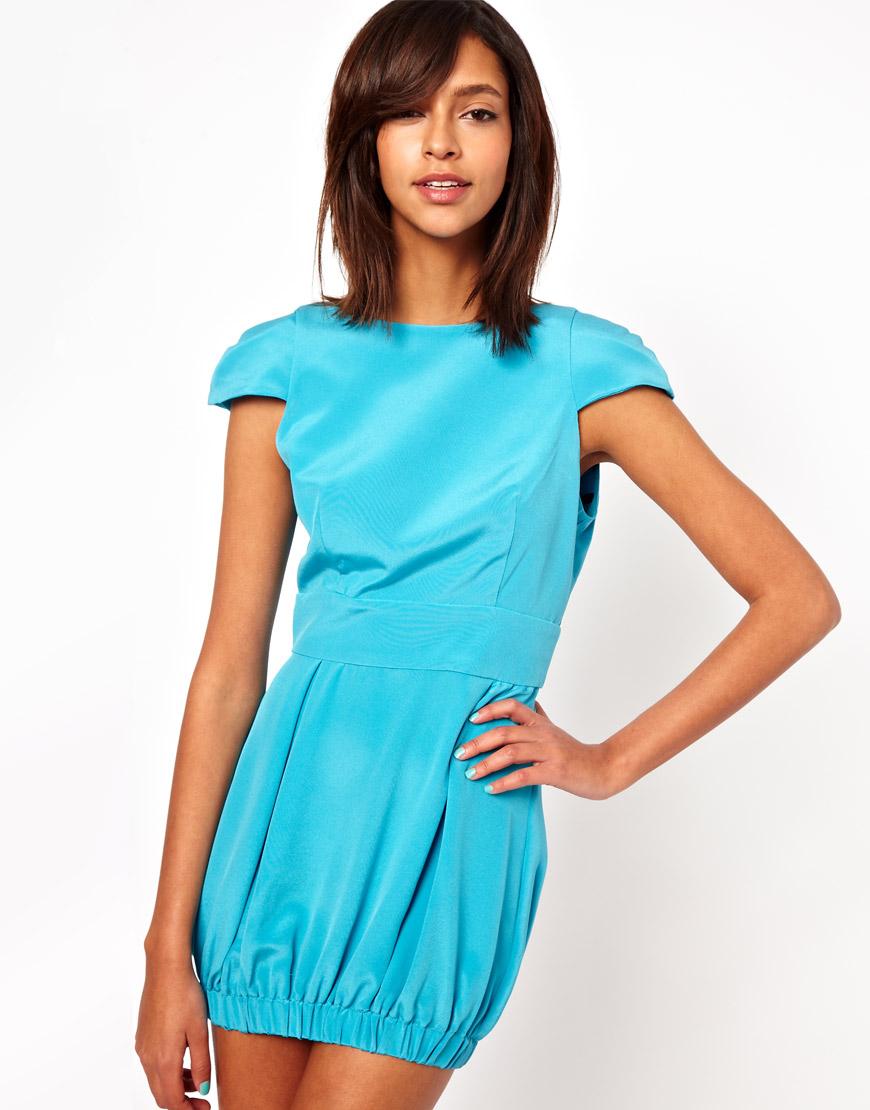 Lyst - Naven Party Dress in Silk in Blue