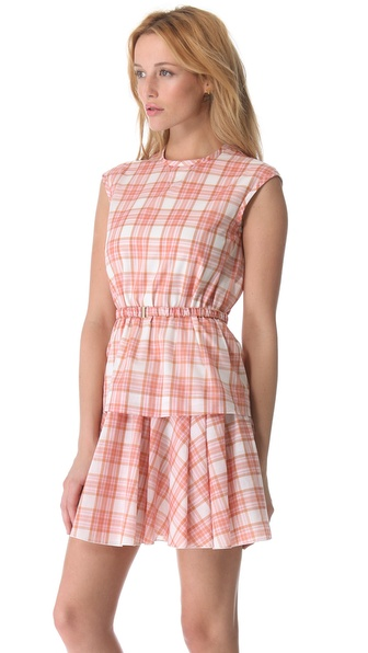 N°21 Pink Plaid Dress with Belt in Pink  Lyst