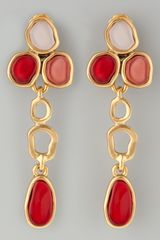 Oscar de la Renta Resin Cabochon Earrings  - Lyst