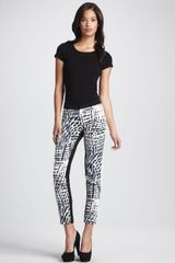 Parker Printed Cropped Slim Pants - Lyst