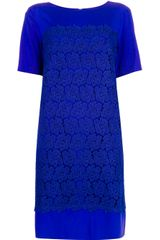 P.a.r.o.s.h. Lace Detailed Dress - Lyst