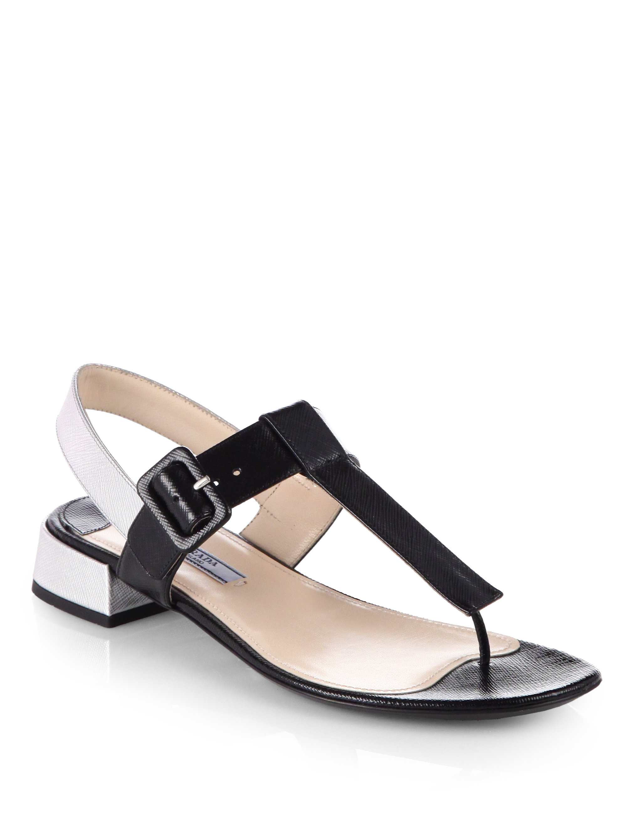 Black Sandals Black Leather Thong Sandals