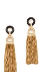 Rachel Zoe Onyx Tassel Earrings - Lyst