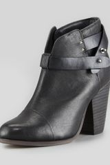 Rag & Bone Harrow Leather Ankle Boot Black - Lyst