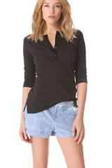 Rag & Bone The Henley Tee - Lyst