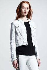 Rag & Bone Destroyed Jean Jacket Bleach Out - Lyst