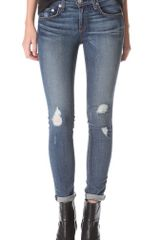 Rag & Bone The Ripped Skinny Jeans - Lyst