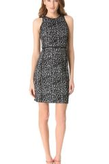 Rebecca Taylor Leopard Knit Shift Dress - Lyst
