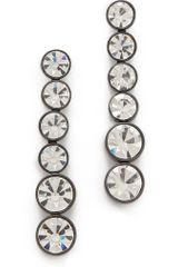 Robert Rodriguez Graduated Crystal Drop Earrings - Lyst