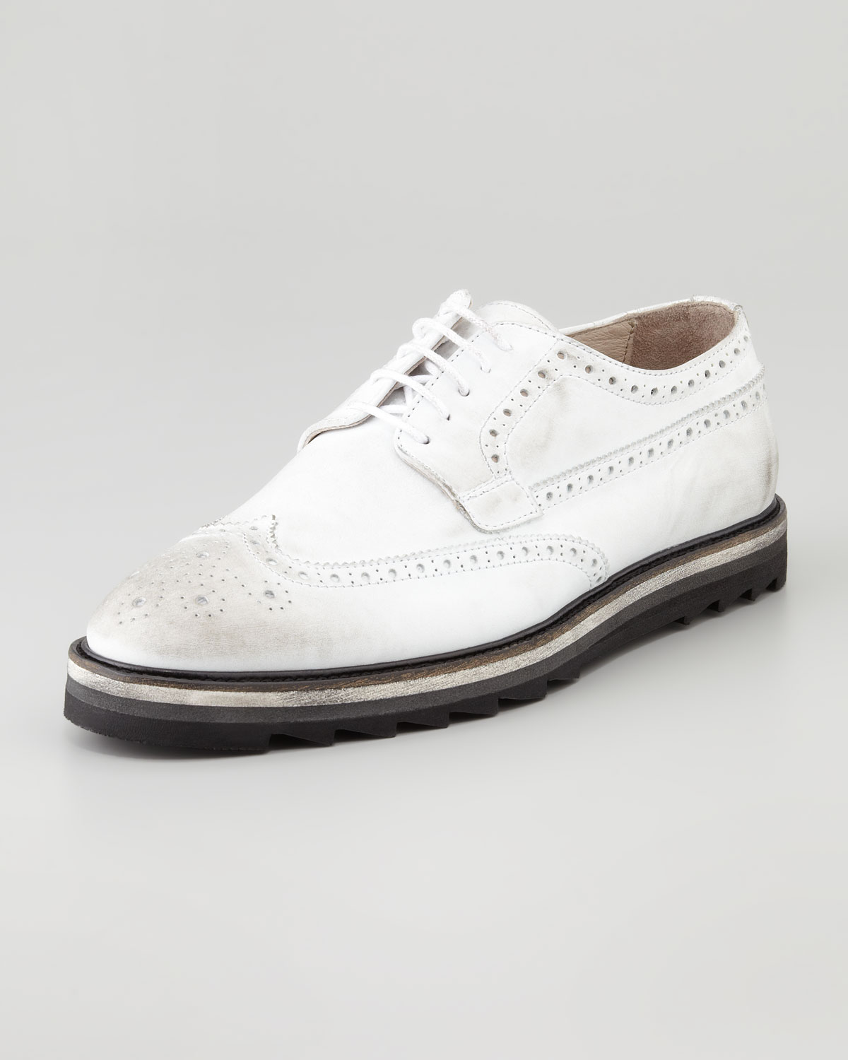 rogue rodman wingtip white in white for 9 lyst