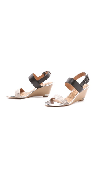 d31c9a459f81b Lyst - Sam Edelman Sutton Wedge Sandals in Black