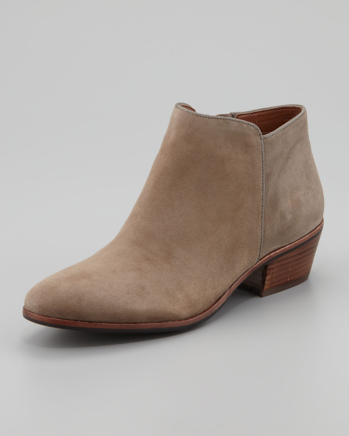 Sam edelman Womens Petty Suede Ankle Boot Tan in Brown | Lyst