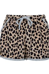 Sea Drawstring Leopard Print Shorts - Lyst