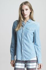 See By Chloé Buttonup Denim Blouse - Lyst