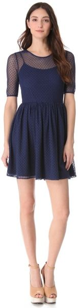 Shoshanna Dresses Navy Lace Patricia Shoshanna Lace Felicity Dress