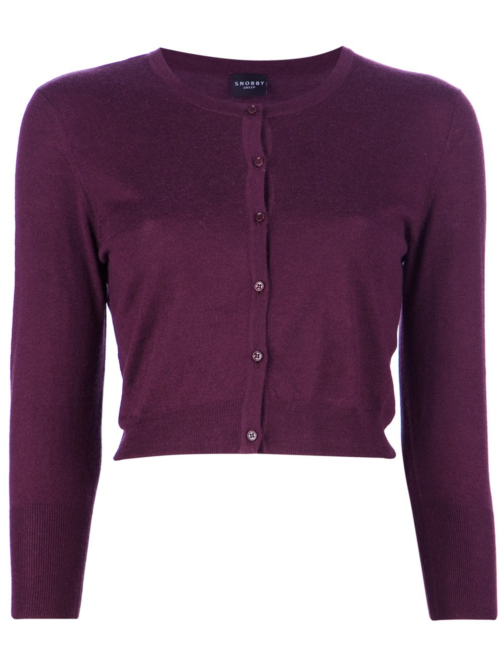Snobby sheep Cropped Cardigan in Purple | Lyst