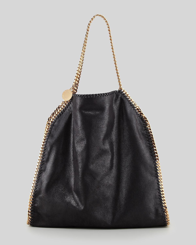 stella mccartney falabella big tote bag black in black lyst. Black Bedroom Furniture Sets. Home Design Ideas