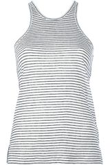 T By Alexander Wang Striped Front Tank - Lyst