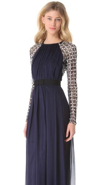 e42fbc6042d2 Lyst - Temperley London Long Angeli Lattice Dress in Blue